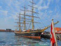 George Stage-Schiff in Kopenhagen Danmark Lizenzfreies Stockbild