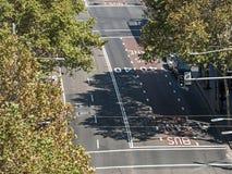 George Street nella vista di Sydney da altezza Immagine Stock