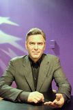 George Timothy Clooney Wax Figure royalty-vrije stock foto's