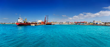 George Town Cayman Islands-waterkant Royalty-vrije Stock Foto's