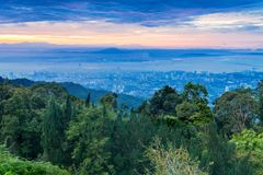 George Town city view from Penang Hill Stock Images