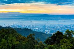George Town city view from Penang Hill Stock Photography