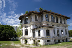 George Town Dilapidated Heritage Building Royalty Free Stock Images