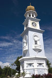 George Town Heritage Clock Tower. Centuries old Jubilee Clock Tower located at UNESCO's World Heritage site of George Town, Penang, Malaysia. It was built by a Stock Image