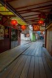George Town, Malásia - 10 de março de 2017: Os molhes do clã são pagamentos chineses originais que existem desde o século XIX Foto de Stock Royalty Free