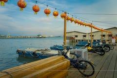 George Town, Malásia - 10 de março de 2017: Os molhes do clã são pagamentos chineses originais que existem desde o século XIX Imagens de Stock