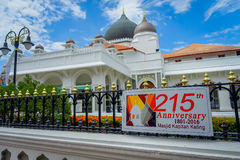 George Town, Malaisie - 10 mars 2017 : Mosquée de Kapitan Keling, construite au 19ème siècle par les commerçants musulmans indien Photographie stock