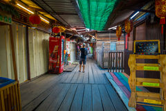 George Town, Malasia - 10 de marzo de 2017: Los embarcaderos del clan son acuerdos chinos únicos que existen desde el siglo XIX Fotos de archivo libres de regalías
