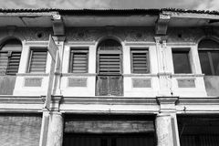 George Town, Malaysia, December 19 2017: Facade of the old building in Penang. George Town, Malaysia, December 19 2017: Facade of the old building located in Stock Photography