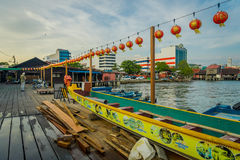 George Town, Malaysia - March 10, 2017: Clan Jetties are unique Chinese settlements existing since the 19th century Stock Images