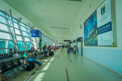 George Town, Malaysia - March 10, 2017: Penang Airport, the third busiest airport in Malaysia located in the second. George Town, Malaysia - March 10, 2017 stock photo