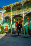 George Town, Malaysia - March 10, 2017: Pinang Peranakan Mansion, is a museum containing antiques and showcasing Stock Photos