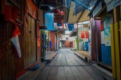 George Town Malaysia - mars 10, 2017: Klanbryggor är unika kinesiska bosättningar som finns efter det 19th århundradet Fotografering för Bildbyråer