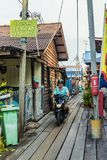 A typical view in George town in Malaysia stock photos