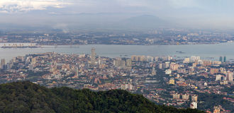 George Town Penang Malaysia Aerial-Mening Royalty-vrije Stock Afbeelding