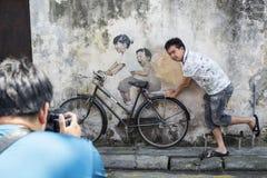 GEORGE TOWN PENANG, MALAYSIA CIRCA September 06, 2015: Offentligt Royaltyfria Bilder