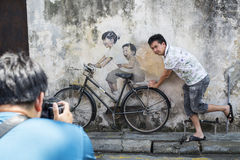 GEORGE TOWN,PENANG ,MALAYSIA- CIRCA September 06 , 2015: Public Royalty Free Stock Images