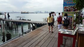 The view at Chew Jetty.