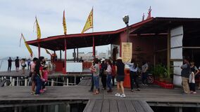Temple at Chew Jetty.