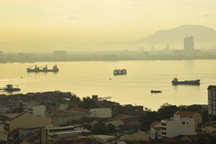 George town, Penang before sunset. Royalty Free Stock Photo