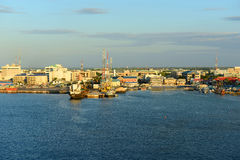George Town Port, Cayman Islands Royalty Free Stock Photos