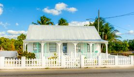George Town- White Cayman House stock image