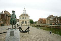 George Vancouver Statue in King's Lynn. stock images