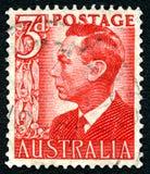 George VI Australische Postzegel Stock Fotografie