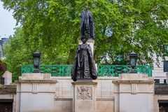 George VI and Queen Elizabeth Memorial Monument at the Mall Road, London UK. George VI and Queen Elizabeth Memorial at the Mall Road, London UK Stock Photos