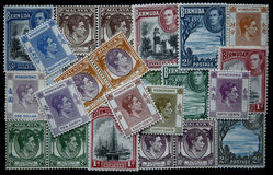 George VI stamps Stock Photos