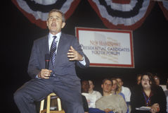 George W. Bush addressing the New Hampshire Presidential Candidates Youth Forum, January 2000 Stock Image