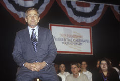George W. Bush addressing the New Hampshire Presidential Candidates Youth Forum, January 2000 Stock Photography