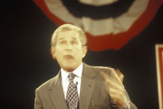 George W. Bush addressing the New Hampshire Presidential Candidates Youth Forum, January 2000 Royalty Free Stock Photo