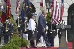 George W. Bush and Queen Elizabeth II Royalty Free Stock Image