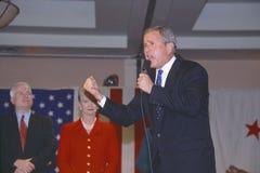 George W. Bush som talar på aktionen, samlar Arkivbild