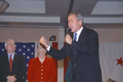 George W. Bush speaking at campaign rally Stock Photography