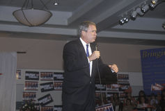 George W. Bush speaking at campaign rally, Burbank, CA in 2000 Stock Images
