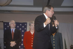 George W. Bush speaking at campaign rally, Burbank, CA in 2000 Stock Photography
