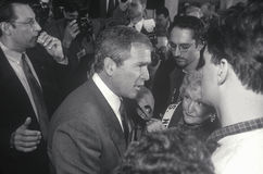 George W. Bush speaking at Londonderry High School, NH, January 2000 Stock Photos