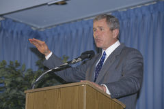 George W. Bush speaking at Rotary Club, Portsmouth, NH in 2000 Stock Photography