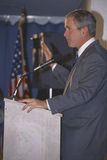 George W. Bush speaking at Rotary Club, Portsmouth, NH in 2000 Royalty Free Stock Photos
