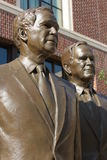 George W. Bush. Statues of the Presidents stand outside at the George Bush Library in Dallas, Texas Royalty Free Stock Photo