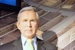 George W. Bush Wax Figure. George Walker Bush is an American politician and businessman who served as the 43rd President of the United States from 2001 to 2009 Stock Photography