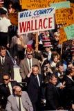 George Wallace delta i en kampanj för president i 1968. Royaltyfri Foto
