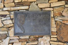 George Wallace Plaque Alabama Visitors Center fotografie stock