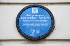 George Walpole Plaque in Norwich Royalty Free Stock Photos