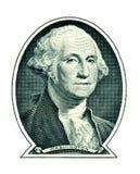 George Washington σε ένα δολάριο που απομονώνεται στο λευκό Στοκ Εικόνες