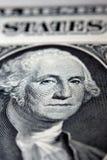George Washington στο $1 Μπιλ Στοκ Εικόνα