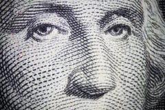 George Washington. Closeup on the one dollar note royalty free stock photo