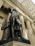 George Washington. The statue of the first president of the United States of America presides teh Federal Hall in Manhattan Stock Photography